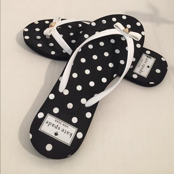 7829978c5008 kate spade Shoes - Kate Spade Nadine Black White flip flop sandals